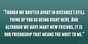 ... Drifting Apart Quotes ~ Best Friend Quotes About Being Apart | Quote