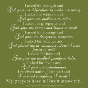 God does always answer prayers