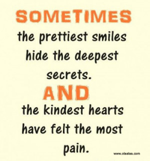 nice quotes-smile-secrets-hearts-pain-quotes