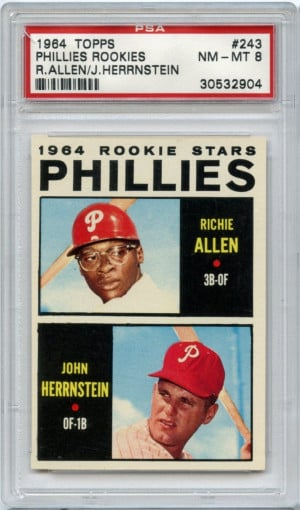 ... #243 Phillies Rookie Stars Richie Allen RC Rookie Card PSA 8 NM-MT