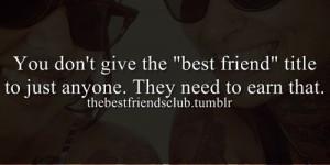 best friend, friendship, earn