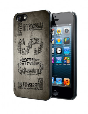 Lost TV Series Quotes Game Samsung Galaxy S3/ S4 case, iPhone 4/4S / 5 ...