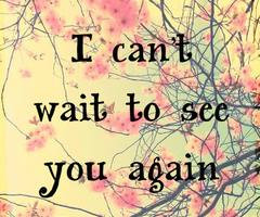 can',t wait to see you again | via Facebook