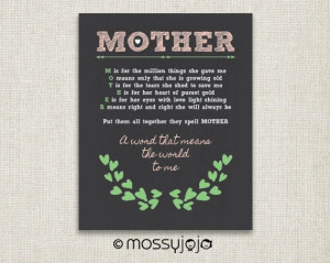 Mother Gift Inspirational Quote Gifts for mom by MossyJojo on Etsy