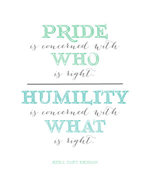 Pride Quote... this is a good one!