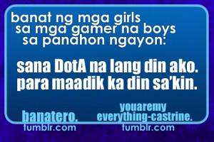 BANAT #52: Banat ng mga girls sa mga gamer na... - Banatero450