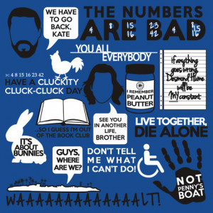 Lost Quotes Collage t-shirt