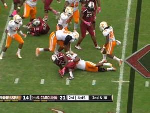 South Carolina Football Broken Leg