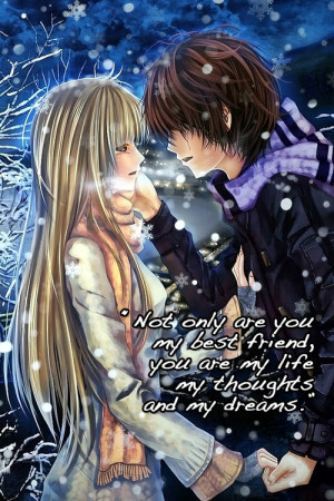 Images Of Anime Couple Love Quotes Lovely Quote Wallpaper Picture