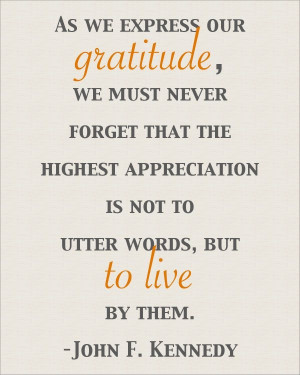 As we express our gratitude
