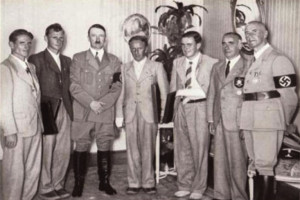 Adolf Hitler awards Henry Ford (centre) the Grand Cross of the German ...