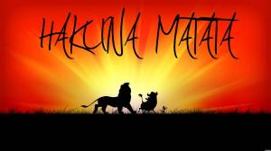 Hakuna Matata, Simba, Pumbaa, and Timon.