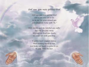 God Saw You Getting Tired Poem