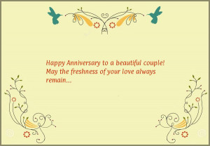 Happy Anniversary to a beautiful couple! May the freshness of your ...