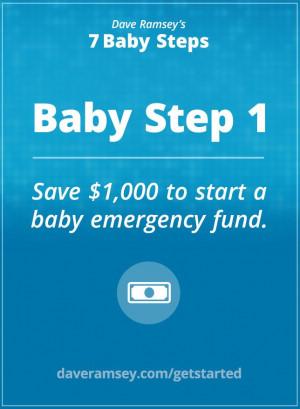 Baby Step 1 - daveramsey.com