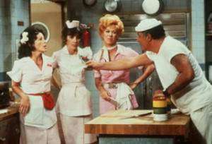 ... the owner of Mel's roadside diner on the sitcom ALICE/CBS/1976-85