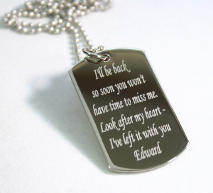 REMEMBER ME, MESSAGE, QUOTE, LOVE, DOG TAG NECKLACE