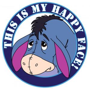 Eeyore Happy, Disney Charcters Friends, Happy Face I, Eeyore'S Happy ...