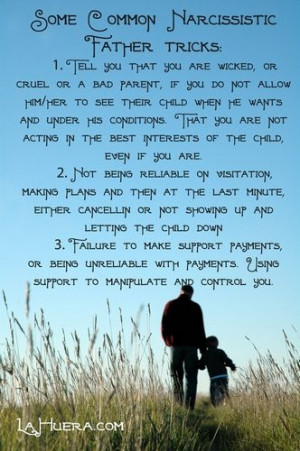 Narcissistic Father - when dad uses the kids for his own narcissistic ...