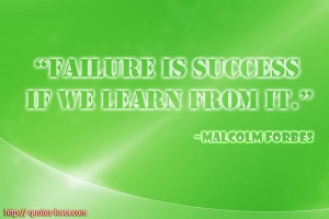 Learning From Failure Quotes