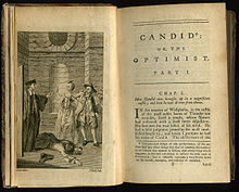 ... English translation by T. Smollett et al. of Voltaire's Candide , 1762