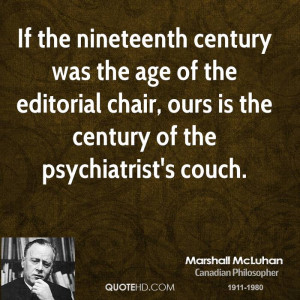 If the nineteenth century was the age of the editorial chair, ours is ...