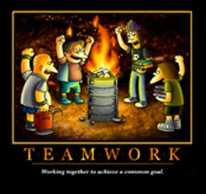 Simpsons T-shirt: Gang