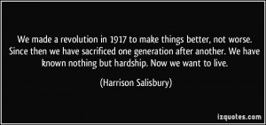 More Harrison Salisbury Quotes