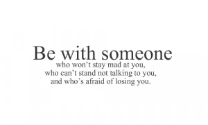 Not Talking To You: Quote About Be With Someone Who Cant Stand Not ...