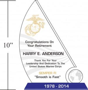 sample marine corps retirement quotes 317 1 usmc eagle globe and ...