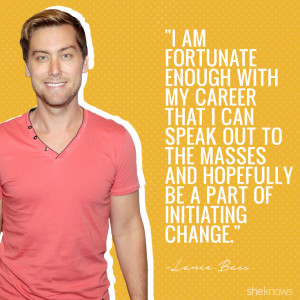 10 Inspirational Lance Bass quotes about being gay and coming out