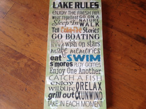 Welcome Signs For Homes Sayings Lake rules, lake sign,