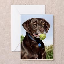 Chocolate Lab 1 Greeting Cards (Pk of 20) for