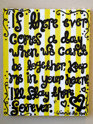 Pooh Bear quote canvas
