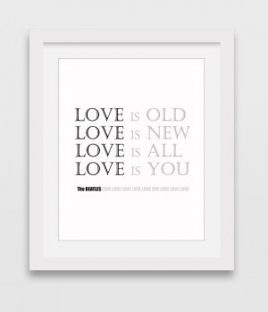 The Beatles Quote Print, Wall Decor, Beatles Printable Quote, Quote ...