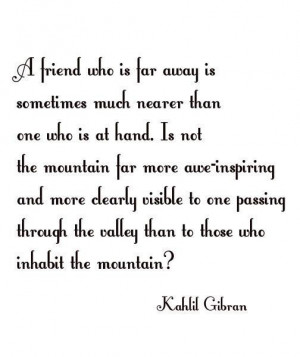Kahlil gibran friends quote