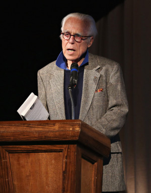 John Guare Playwright John Guare attends a reading of Swoosie Kurtz 39 ...