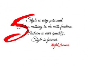 Fashion Quote by Ralph Lauren