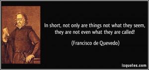 Francisco de Quevedo Quote