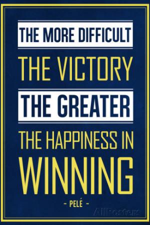 Pele Winning Quote (Brazil) Soccer Sports Art Print Poster Premium ...