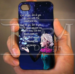 Elsa Frozen Disney Quote design for iPhone 4/4s by TeraOfDesign, $14 ...