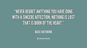 Cute Quotes Never Regret Quote