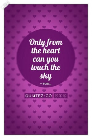 Touch the sky violet quote
