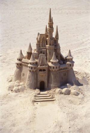 Cinderella's sand castle