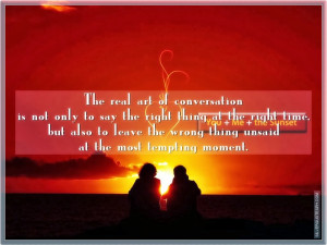 The Real Art Of Conversation, Picture Quotes, Love Quotes, Sad Quotes ...