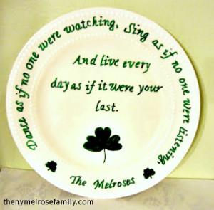 Shamrock and Irish Blessing Plate @russej10 #plate #stpattys # ...