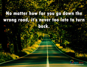 Road in between full of trees, Life quote with road