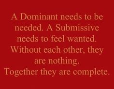 101 dominant/submissive More