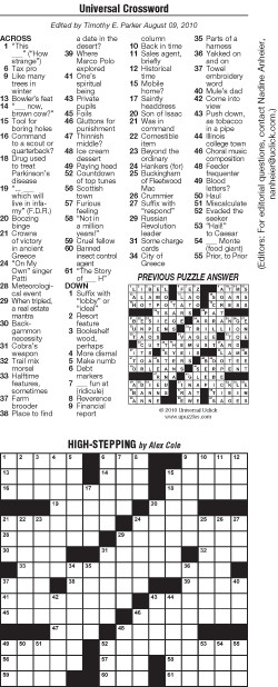 It's just a photo of Decisive Daily Crossword Puzzles Printable