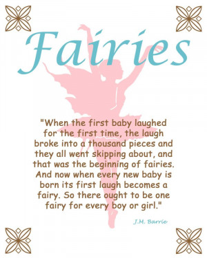 Fairies Silhouette Peter Pan Quote Print Wall art 8 x 10 fairy FREE ...